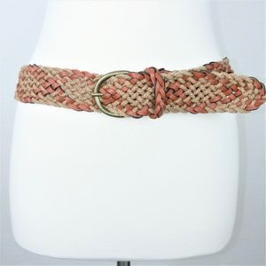 Kohl's Two-toned Diamond Pattern Braided Belt 3